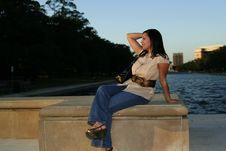 Enjoying Sunset 5 Royalty Free Stock Image