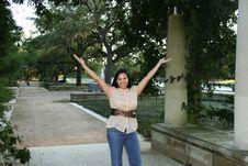 Happy And Joy Body Language 1 Stock Photo