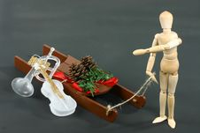 Free Christmas Sleigh With Instruments Royalty Free Stock Photos - 1434018