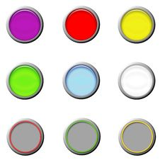 Set Glass Buttons Royalty Free Stock Photos
