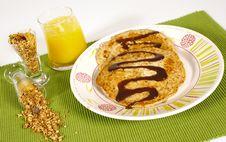 Free Whole Weat Pancakes Stock Image - 1436091