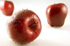 Free Three Apples With Shallow Depth Of Field Royalty Free Stock Photos - 1436128