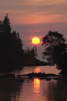 Free Chippewa Harbor Sunrise Stock Photo - 1437260