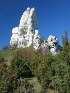 Free White Rocks Royalty Free Stock Photography - 1438537