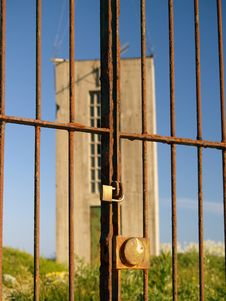 Free Old Communications Tower And Railings Royalty Free Stock Photos - 1438668