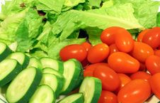Fresh Vegetables For Salad Royalty Free Stock Images