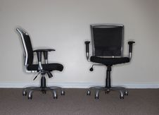 Free Two Business Chairs Royalty Free Stock Photography - 1439837