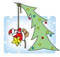 Free Santa Decorates A Christmas Tree. Stock Photography - 14303982