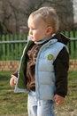 Free Baby Boy In Jerkin At Playground Stock Photos - 14307693
