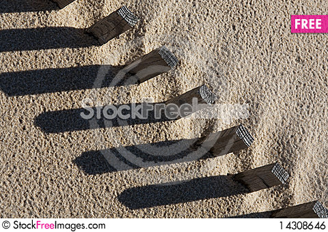 Free Sand Fence Royalty Free Stock Image - 14308646