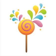 Free Colorful Lollipop Background Stock Photography - 14301272
