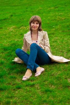 Free Woman On Grass Royalty Free Stock Image - 14301476