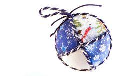 Handmade Christmas Balls Royalty Free Stock Image