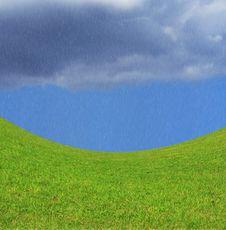 Green, Sky, Rain Stock Photo