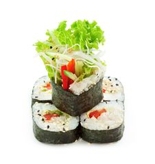 Free Vegetarian Roll Stock Photography - 14302462