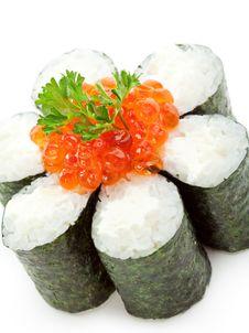 Free Salmon Roe Roll Stock Photo - 14302470