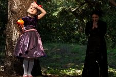 Free Stepmother Gives Poisoned Apple To Snow White Stock Photo - 14302480