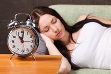 Free Beautiful Woman Sleeping Royalty Free Stock Photography - 14302807