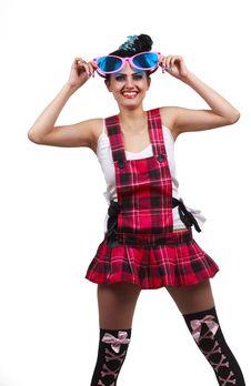 Free Girl Wearing Large Pink Eyeglasses Stock Photo - 14302990