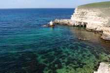 Free The Black Sea Rocky Coastline Royalty Free Stock Image - 14303016