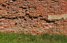 Free Old Destroyed Brick Wall Background Royalty Free Stock Photo - 14303305