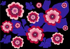 Free Flowers And Leaves Pattern Stock Photography - 14303392