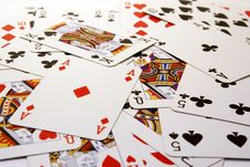 Free Poker Card Background Royalty Free Stock Photography - 14303787