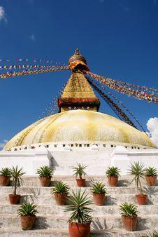 Free Bodhnath Stupa In Kathmandu Royalty Free Stock Image - 14303956