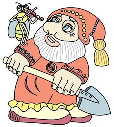 Free Good Gnome With A Shovel. Royalty Free Stock Photo - 14303985