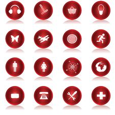 Free Red Web Buttons Collection Stock Images - 14304134