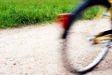 Free Motion Blurred Bicycle On Bike Path Stock Photography - 14304582