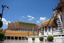 Free Inside Wat Suthat, Bangkok Royalty Free Stock Photography - 14305317