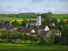 Idyllic Village In Germany Royalty Free Stock Photos
