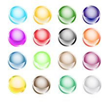Free Glossy Buttons Collection Stock Photography - 14305802