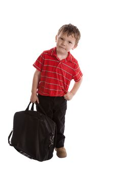 Free Young Businessmand With Black Bag Stock Photo - 14306630