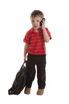 Free Young Businessman With Phone Surprsed Royalty Free Stock Photography - 14306657