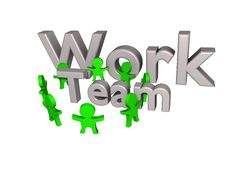 Free Team Work 3d Royalty Free Stock Photography - 14306867