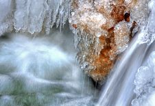 Free Little Waterfall And Needle Ice Stock Image - 14306971