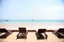 Free Chairs On The Summer Beach Royalty Free Stock Photos - 14307968