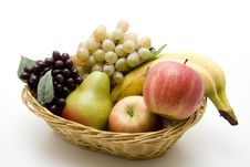 Free Grapes And Apples Royalty Free Stock Image - 14308086