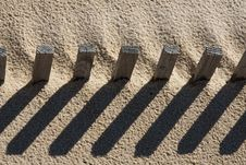 Free Fence On The Sand Stock Photos - 14308543