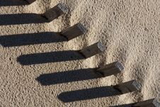 Free Sand Fence Royalty Free Stock Image - 14308646