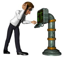 Free 3d Business Man Science Cartoon Stock Photo - 14309560
