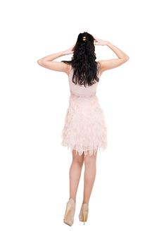 Free Beautiful Model In  Dress On White Royalty Free Stock Photography - 14309757