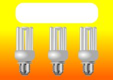 Illustration Background Of Energy Saver Light Bulb Stock Photos