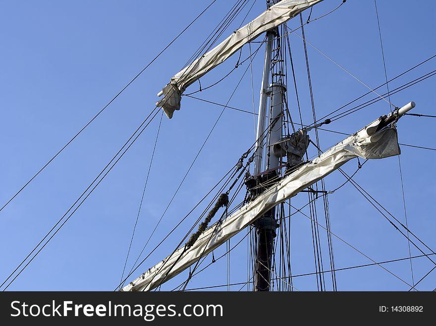 Close up of sail