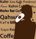 Free Woman Drink Coffee Silhouette Royalty Free Stock Images - 14311609