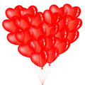 Free Bunch Of Red Heart Shape Balloons. Vector Royalty Free Stock Photos - 14314878