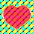 Free Braided Heart On Braided Texture Royalty Free Stock Image - 14318556