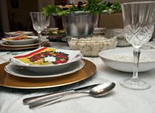 Free Table Setting Royalty Free Stock Photos - 14310218